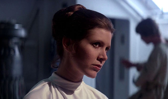 Carrie fisher tres porno