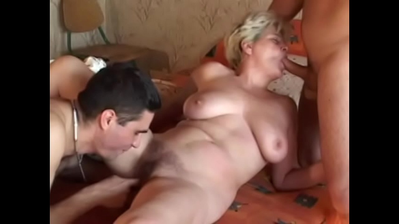 Mature loves two cock