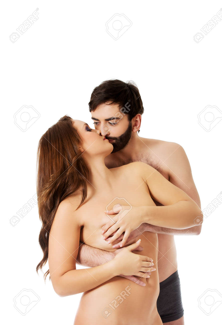 How to take kiss woman to woman boobs nude