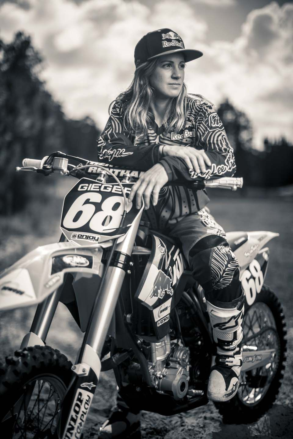 Nude chicks with dirt bikes